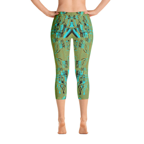 'Rush Hour' Capri Leggings by Adrian Rodriguez - louisacatharinedesign