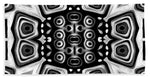 Monochrome Totem Art - Bath Towel - louisacatharinedesign