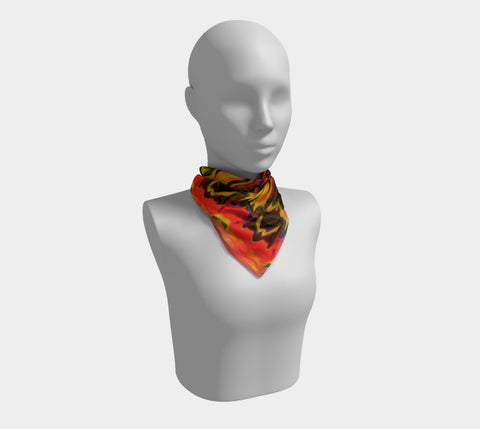 Louisa Catharine 'Fire In Her Soul' Square Scarf