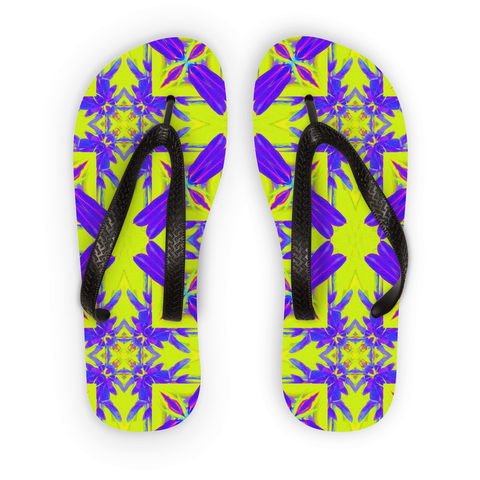Spring Feeling by Louisa Catharine Flip Flops