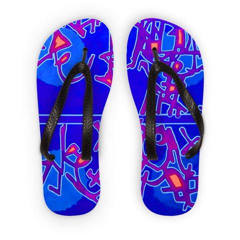 Michel Liénard Contemporary Art III Flip Flops - louisacatharinedesign