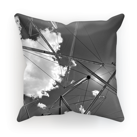 'Pipe Dreams' Visual Art by Adrian Rodriguez Cushion - louisacatharinedesign