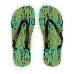'Rush Hour' by Adrian Rodriguez Flip Flops