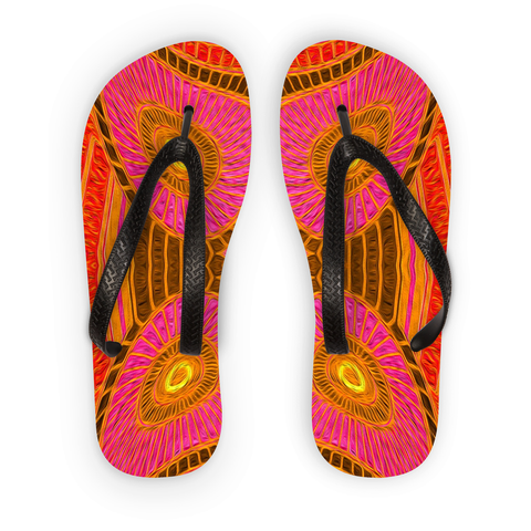 'Solar Orange' Flip Flops - louisacatharinedesign