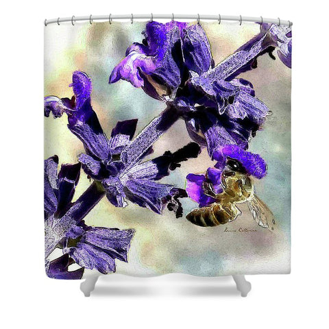 Sting Like A Bee By Louisa  - Shower Curtain
