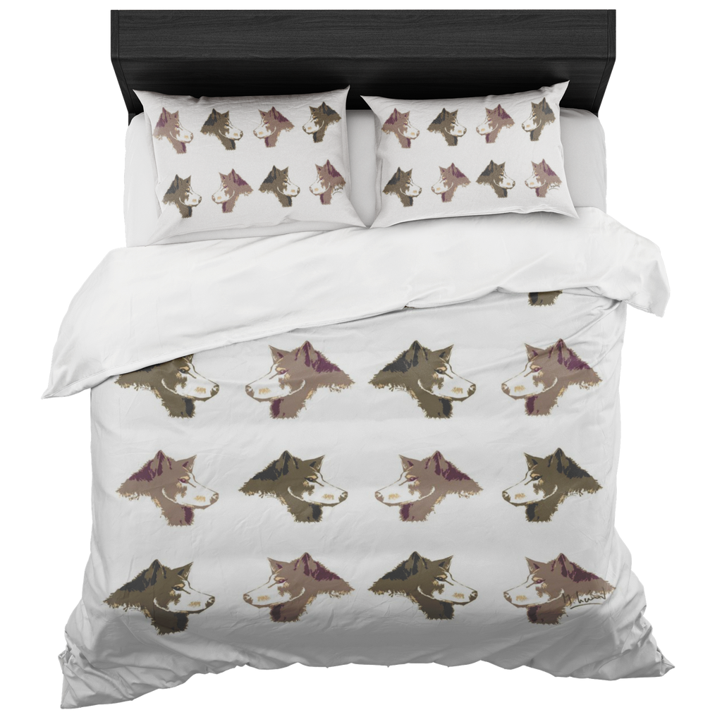 Sled Dogs Matching Art Bedding Set