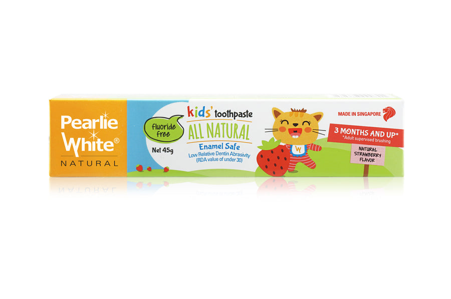 Pearlie White All Natural Enamel-Safe Kids' Toothpaste - Strawberry (45g)