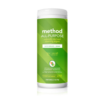 method All Purpose Cleaning Wipes 30s - Lime + Sea Salt