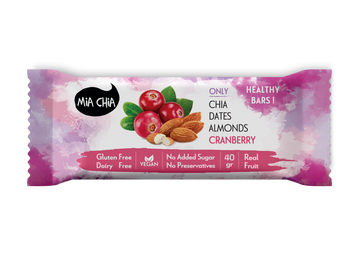 Mia Chia Almond Cranberry Raw Bar