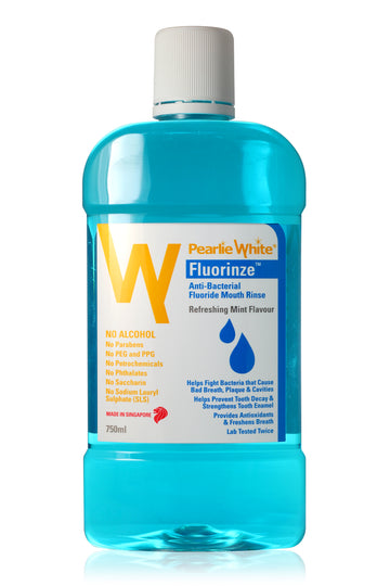 Pearlie White Fluorinze Antibacterial Fluoride Mouth Rinse (750ml)
