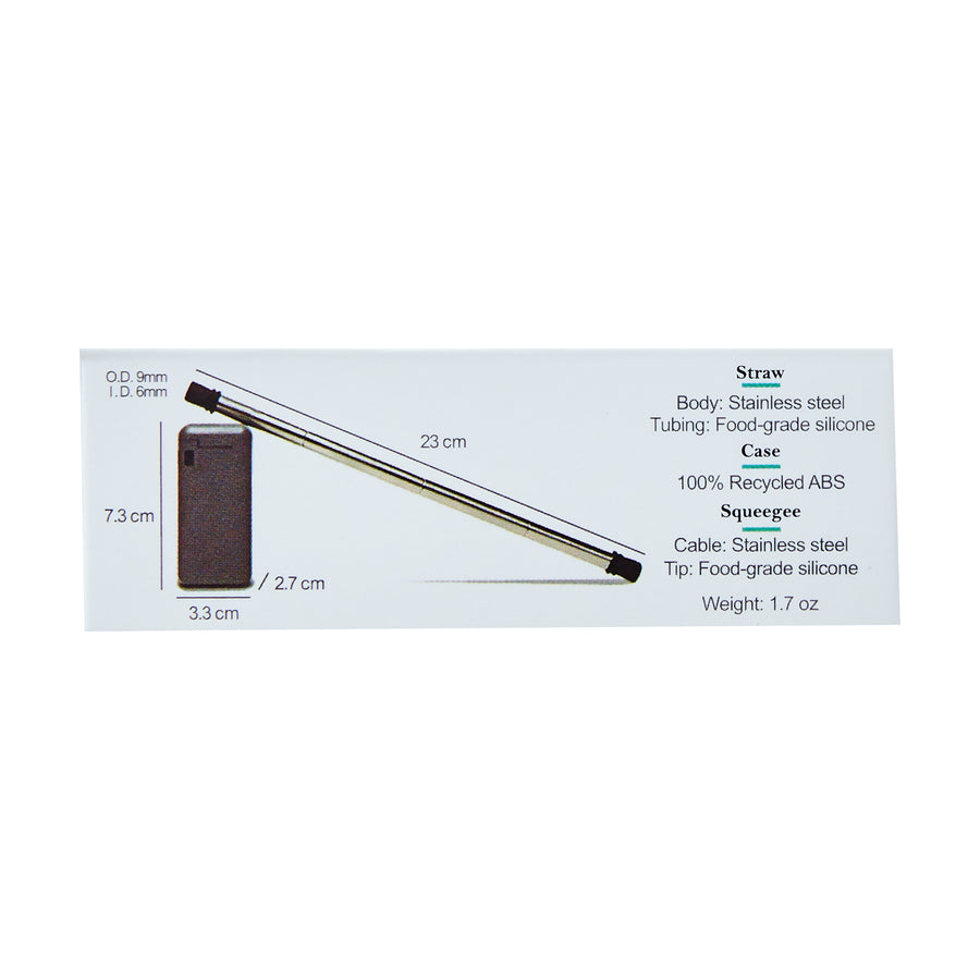 UnPackt Foldable Stainless Steel Straw