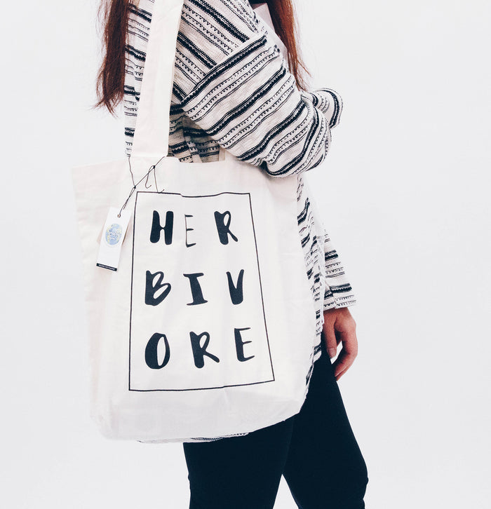 'Herbivore' Organic Cotton Tote Bag