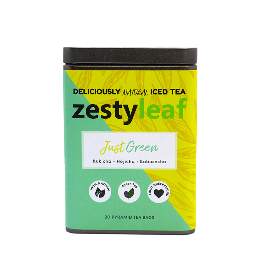 ZestyLeaf Just Green Tea Tin (40g)