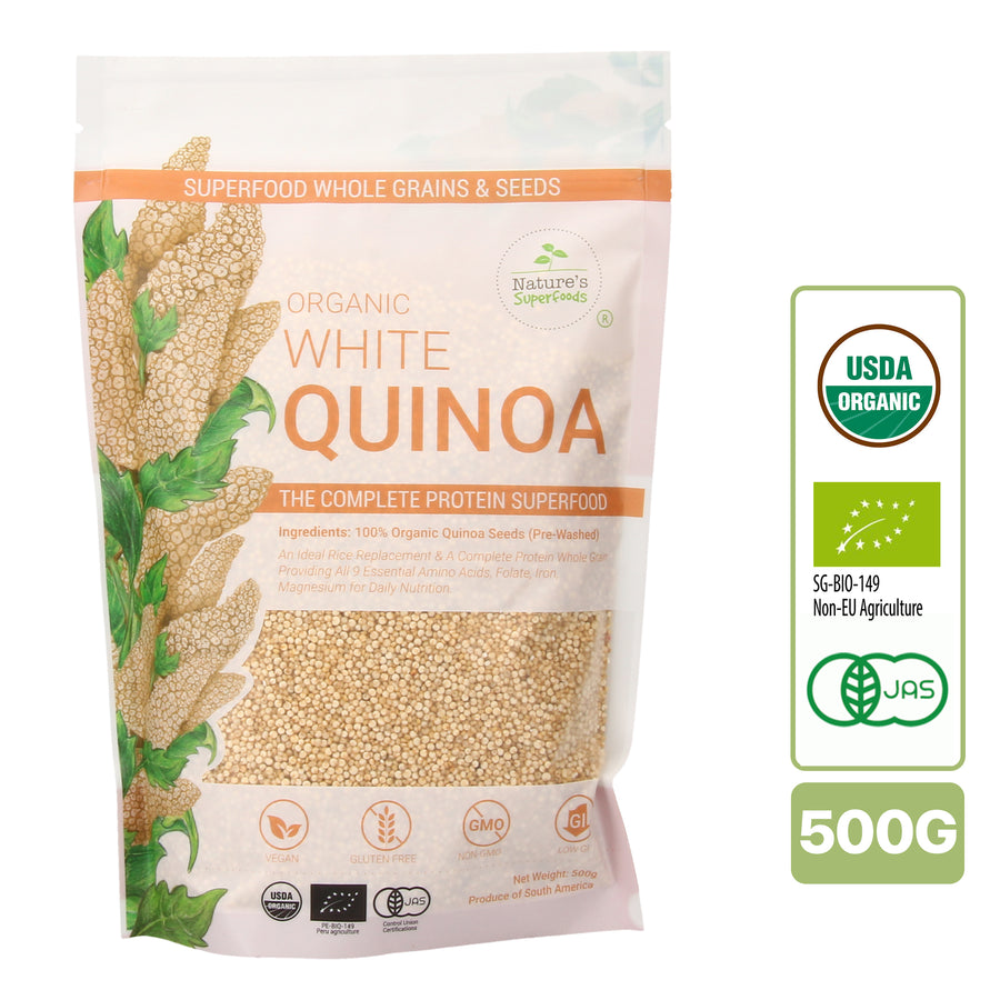 Nature's Superfoods Organic White Quinoa Seeds (500g)