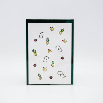 Pineapple Pattern Postcard