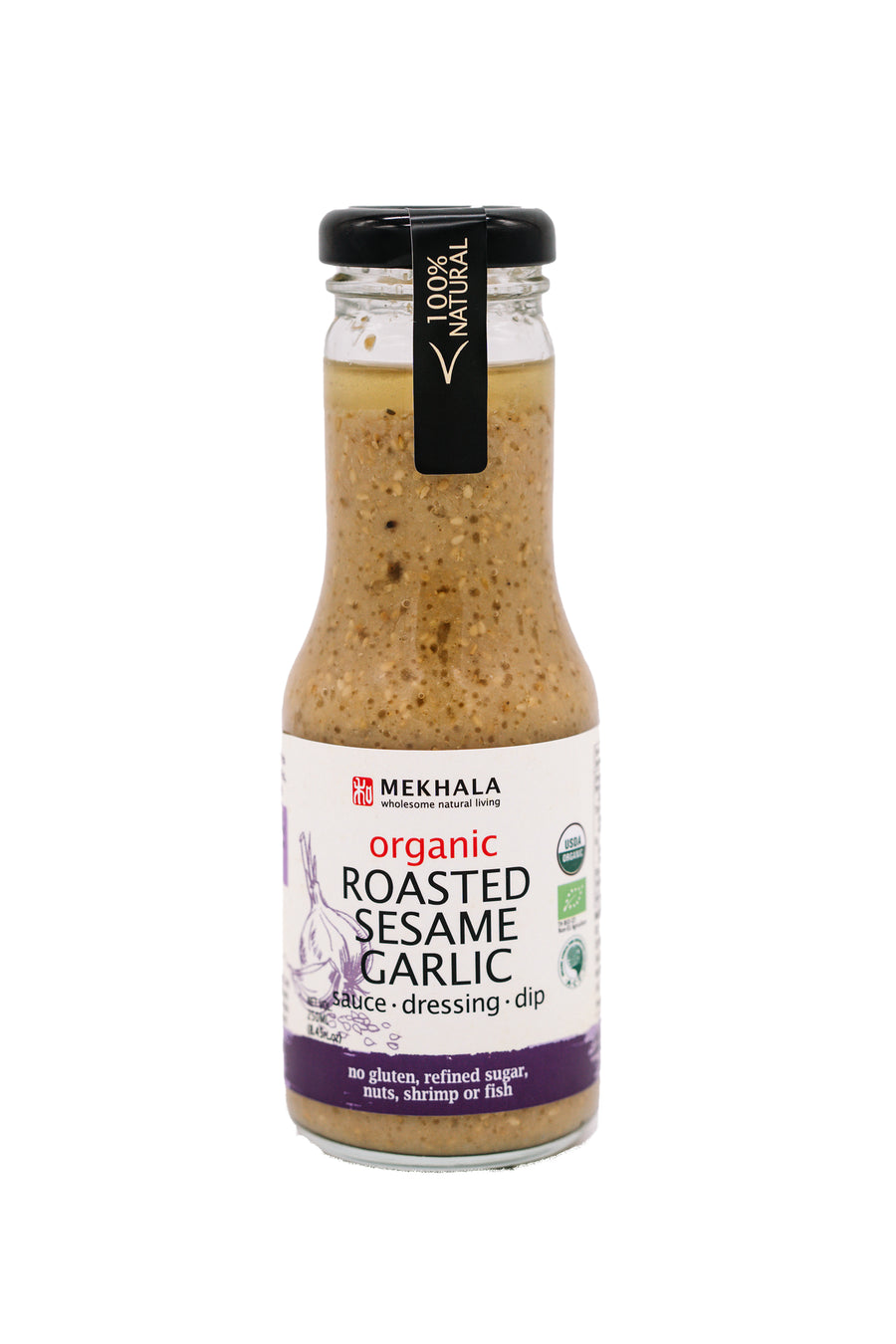 Mekhala Living Organic Roasted Sesame Garlic Sauce (250ml)