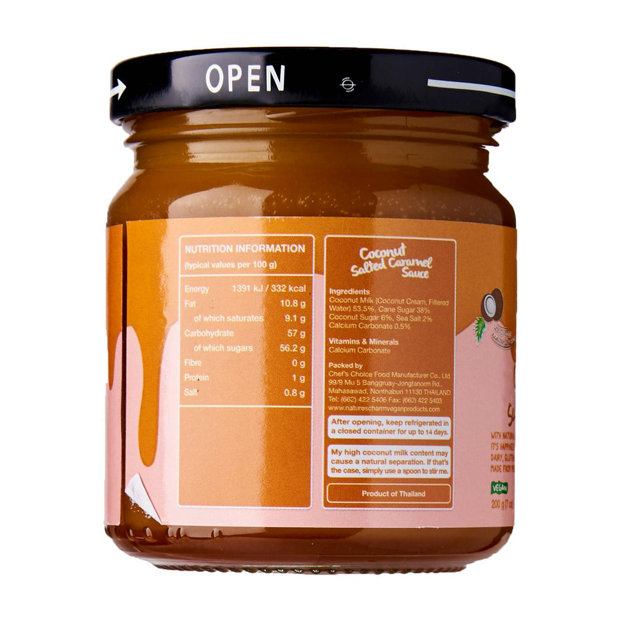 Nature's Charm Coconut Salted Caramel Sauce (200g)
