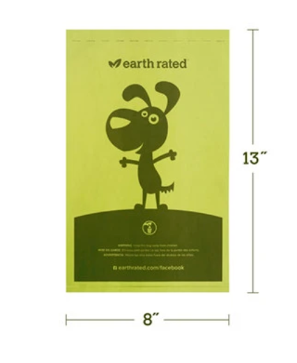 EARTH RATED® 300-COUNT DOG WASTE BAGS ON A SINGLE ROLL