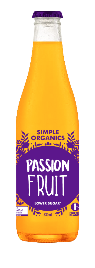 Simple Organics Soda - Passionfruit (330ML)