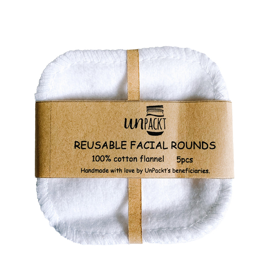 UnPackt Reusable Facial Cotton Pads (5 pieces)