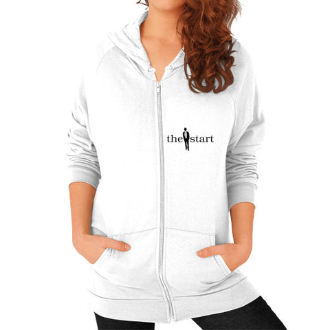 Zip Hoodie (on woman) White thestartottawa