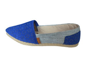 Handmade Espadrilles Everyday Royal Blue:
