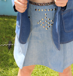 Studded Denim skirt Don't Touch!