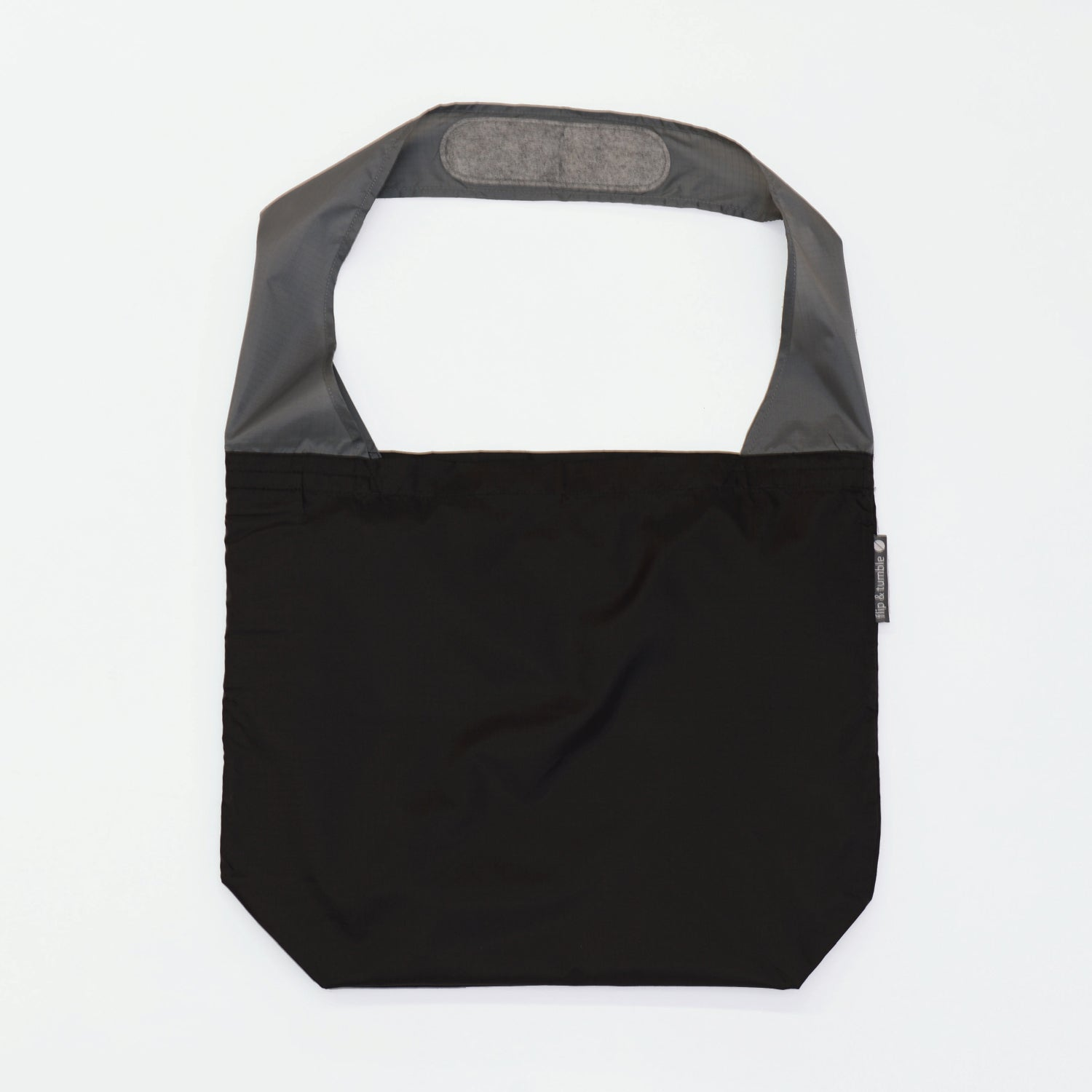black reusable grocery shopping bag