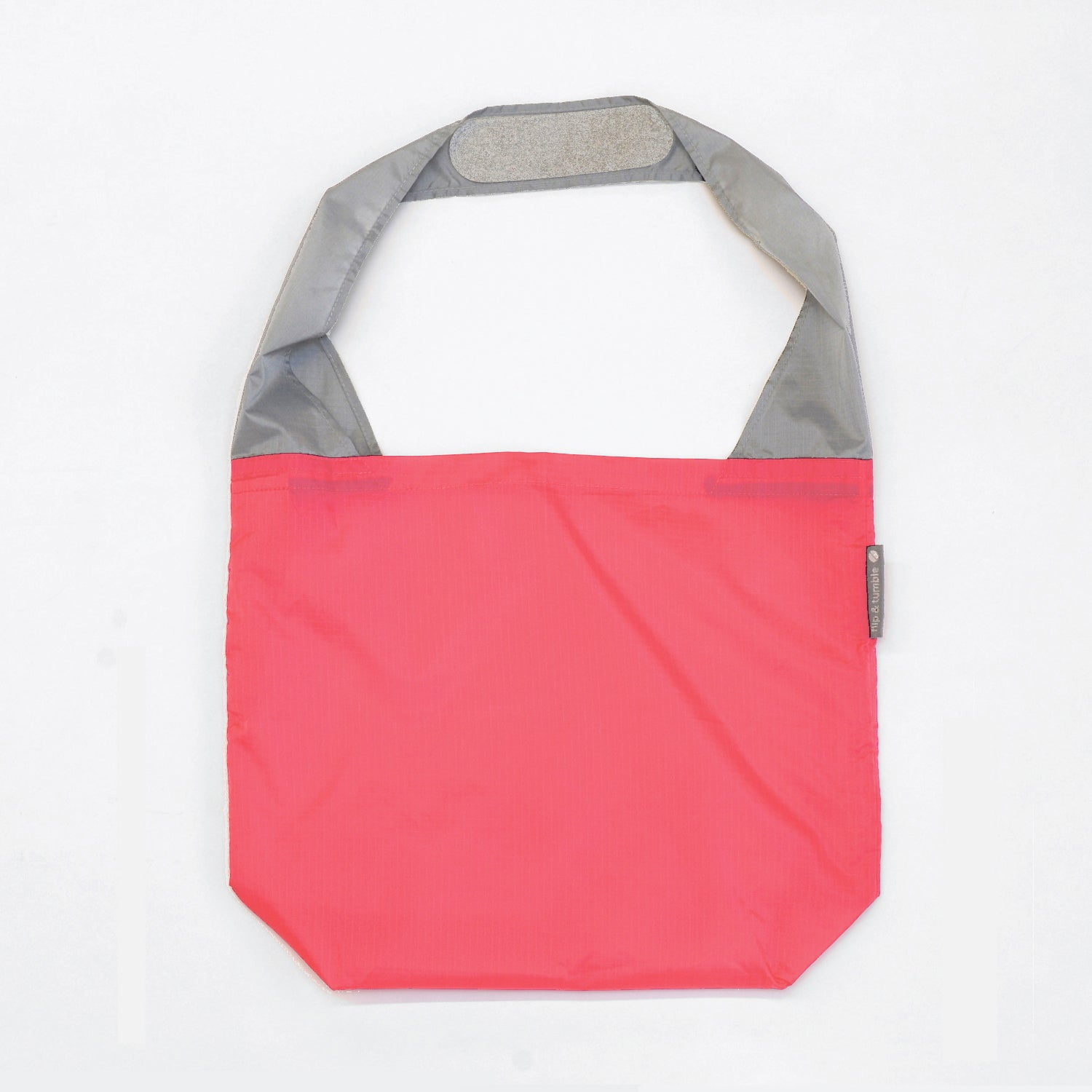coral reusable grocery shopping bag