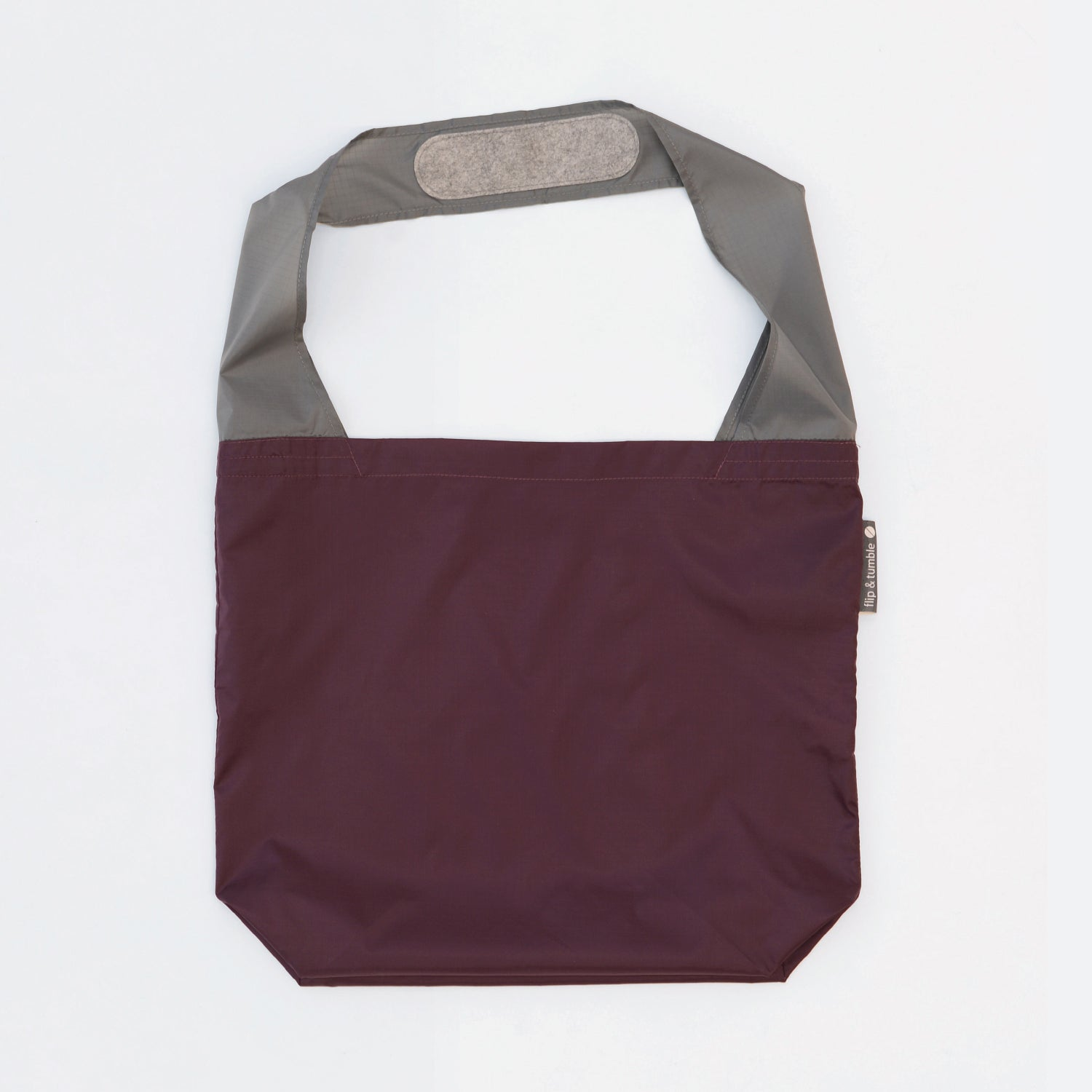 eggplant reusable grocery shopping bag