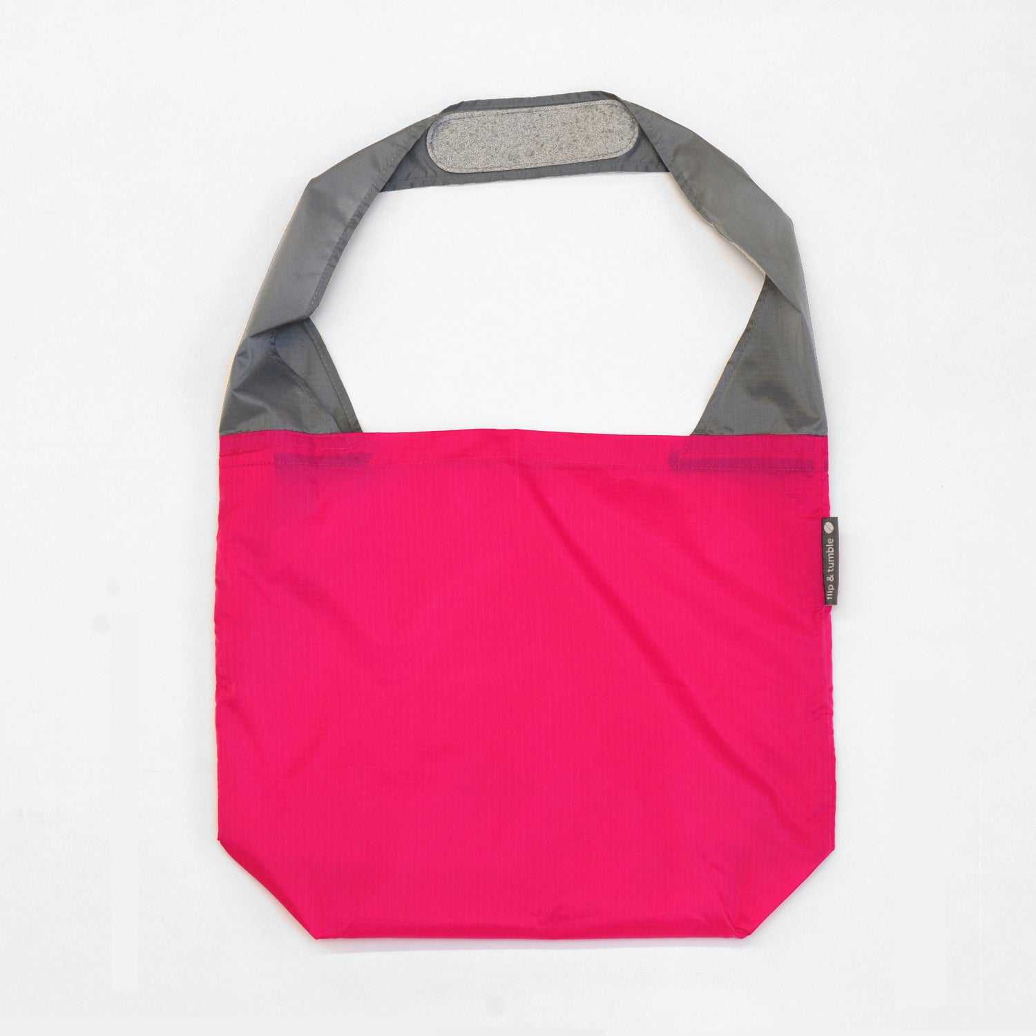 magenta reusable grocery shopping bag