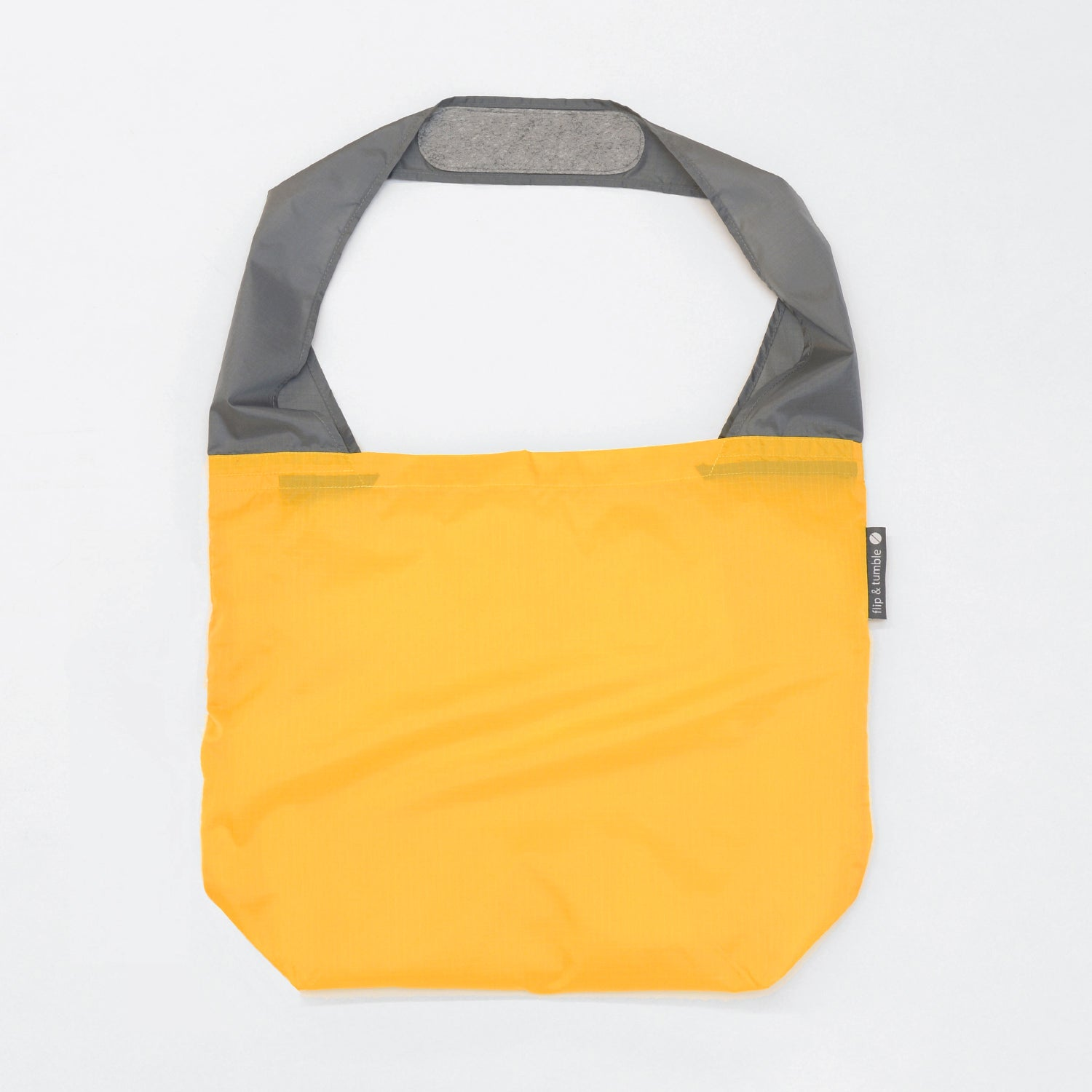 yellow reusable grocery shopping bag