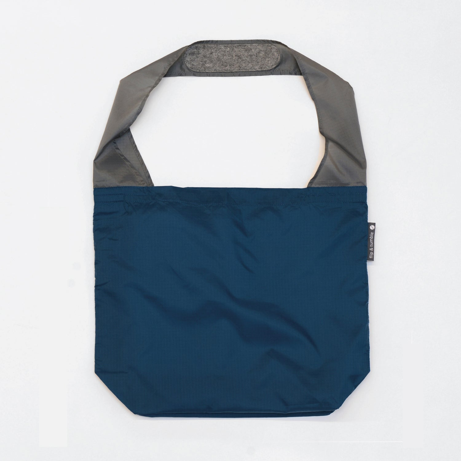 navy reusable grocery shopping bag