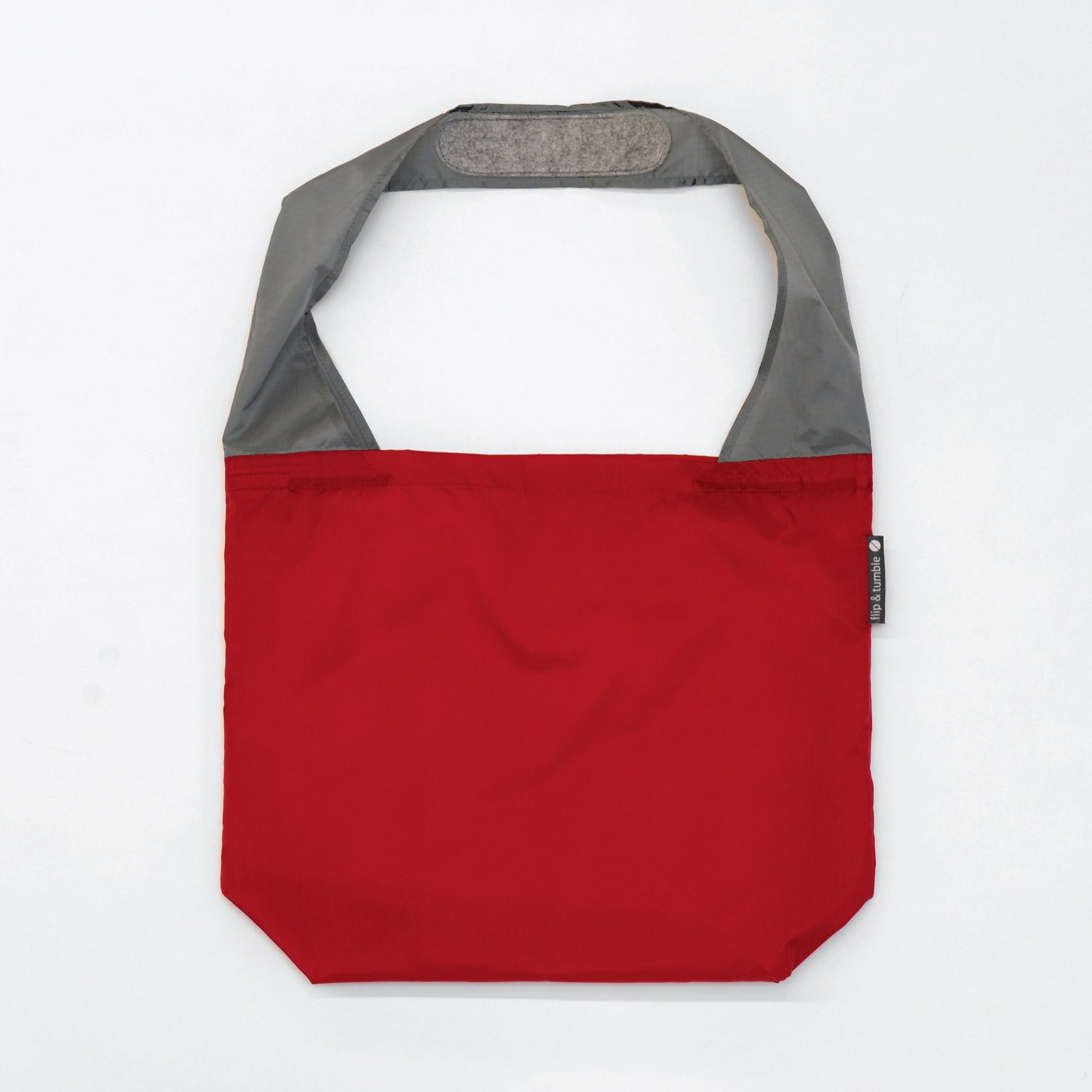 red reusable grocery shopping bag