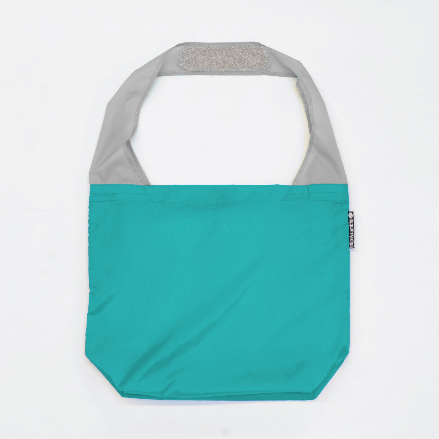 teal reusable grocery shopping bag