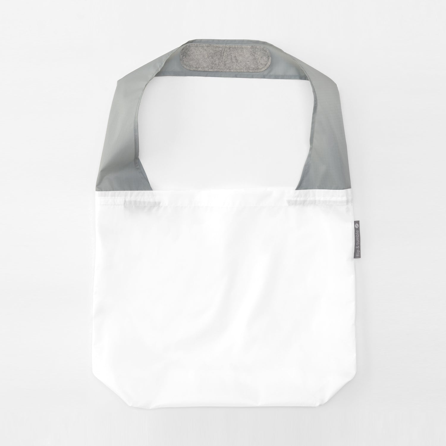 white reusable grocery shopping bag