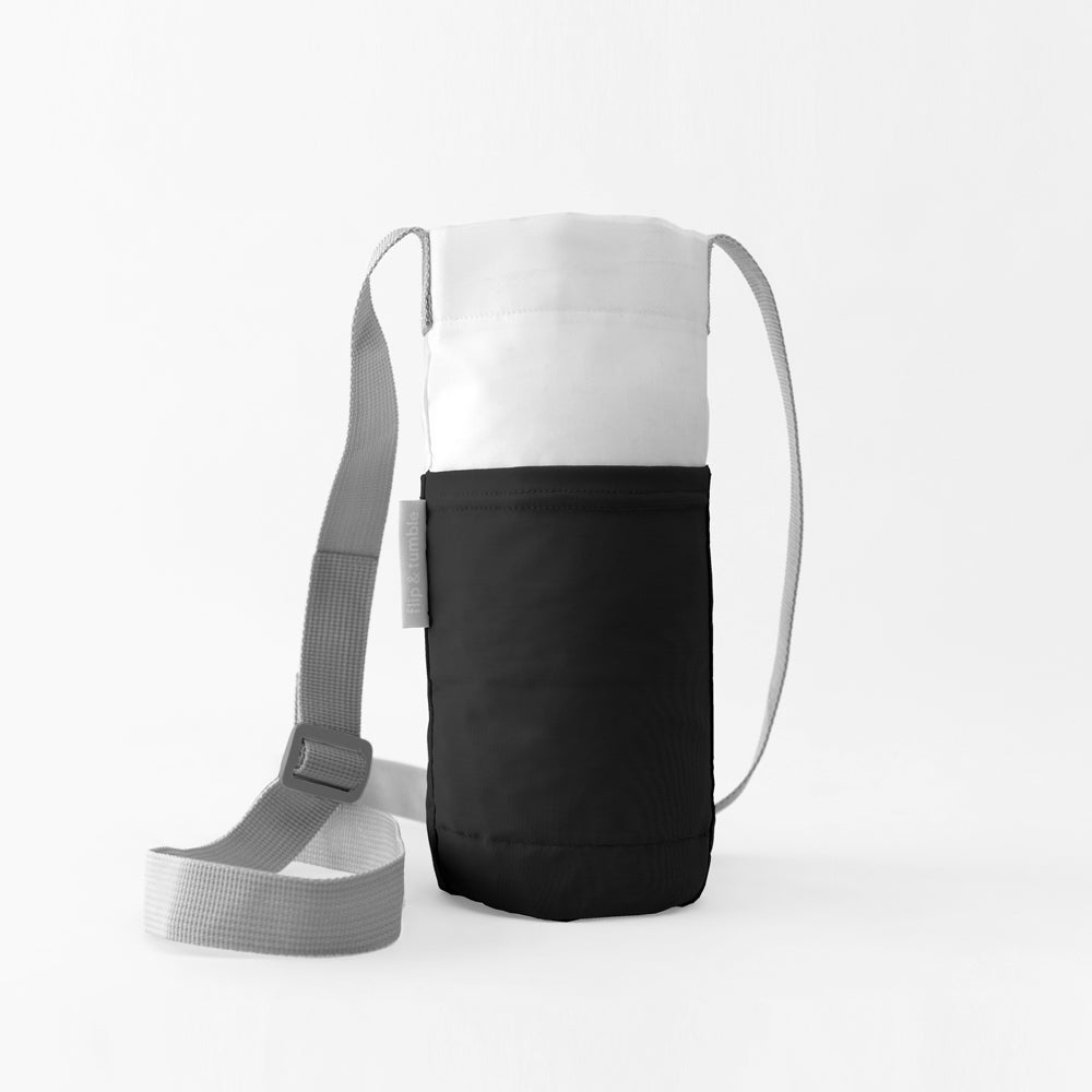 black water bottle bag sling