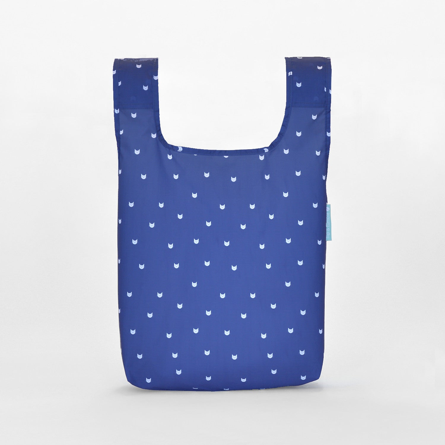 cats reusable grocery shopping bag
