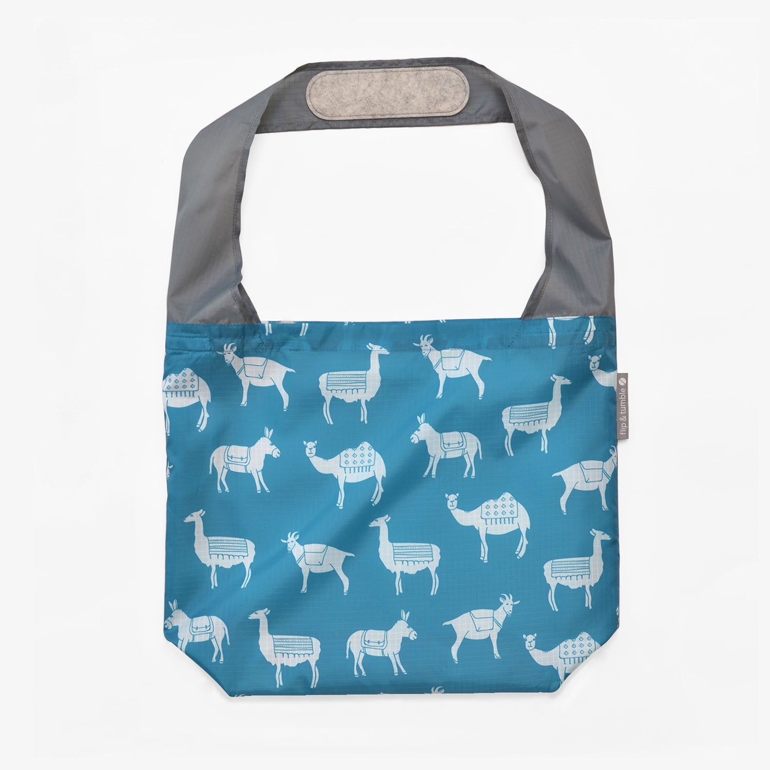 pack animals reusable grocery shopping bag