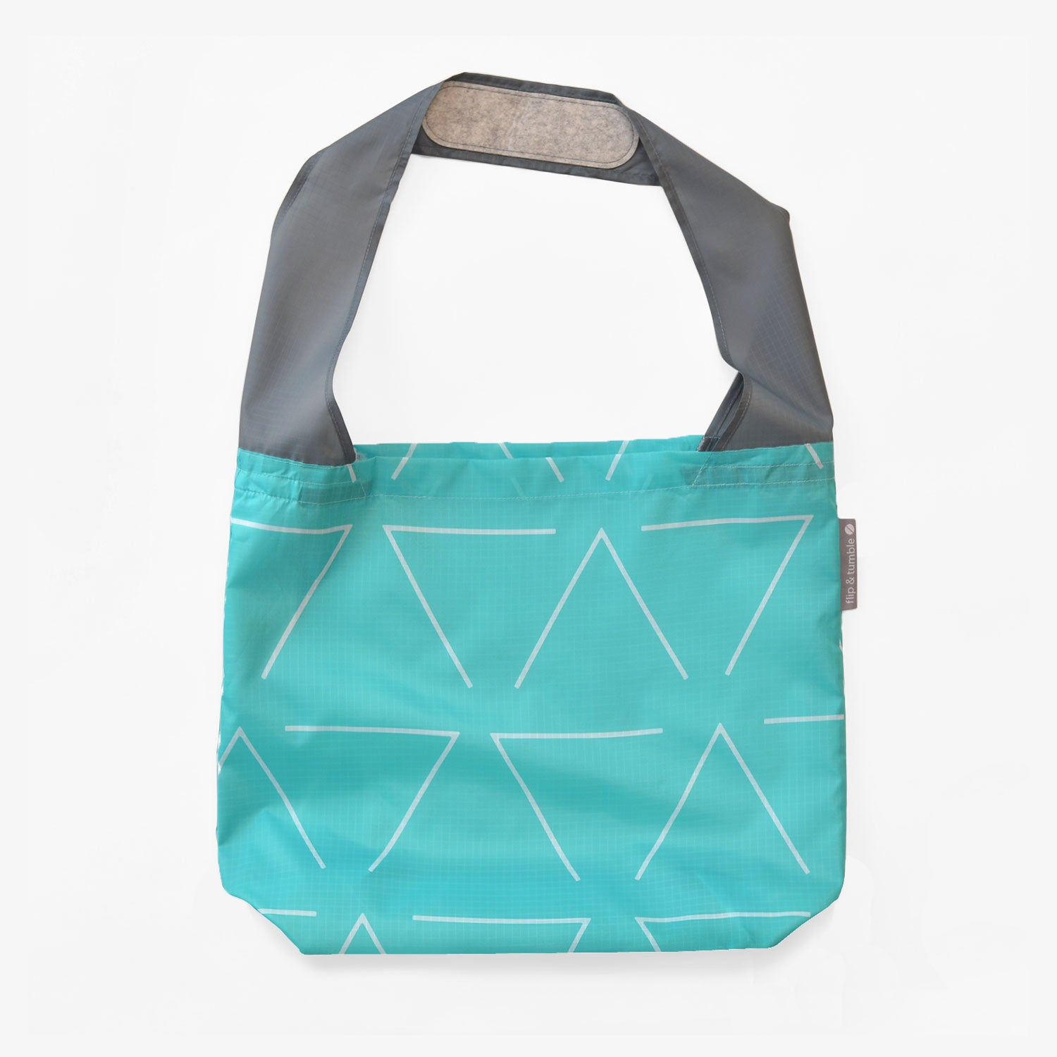 triangles reusable grocery shopping bag