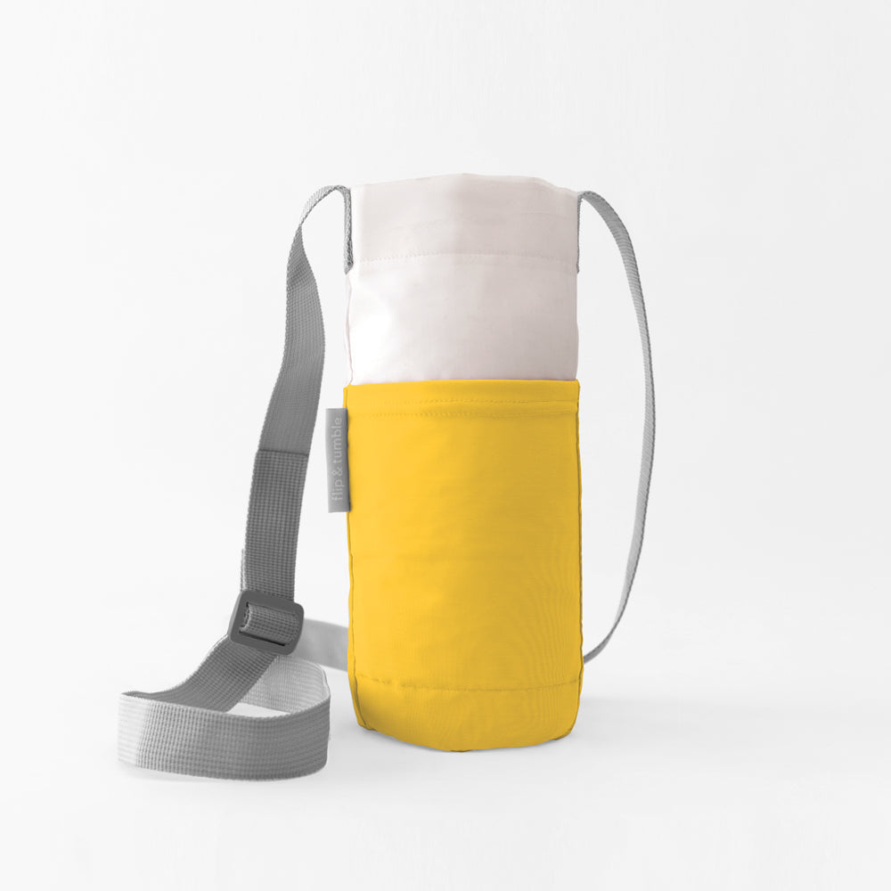 yellow water bottle bag sling