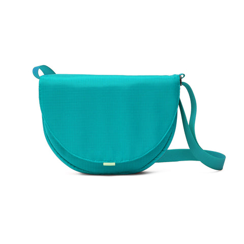 small purse in aqua