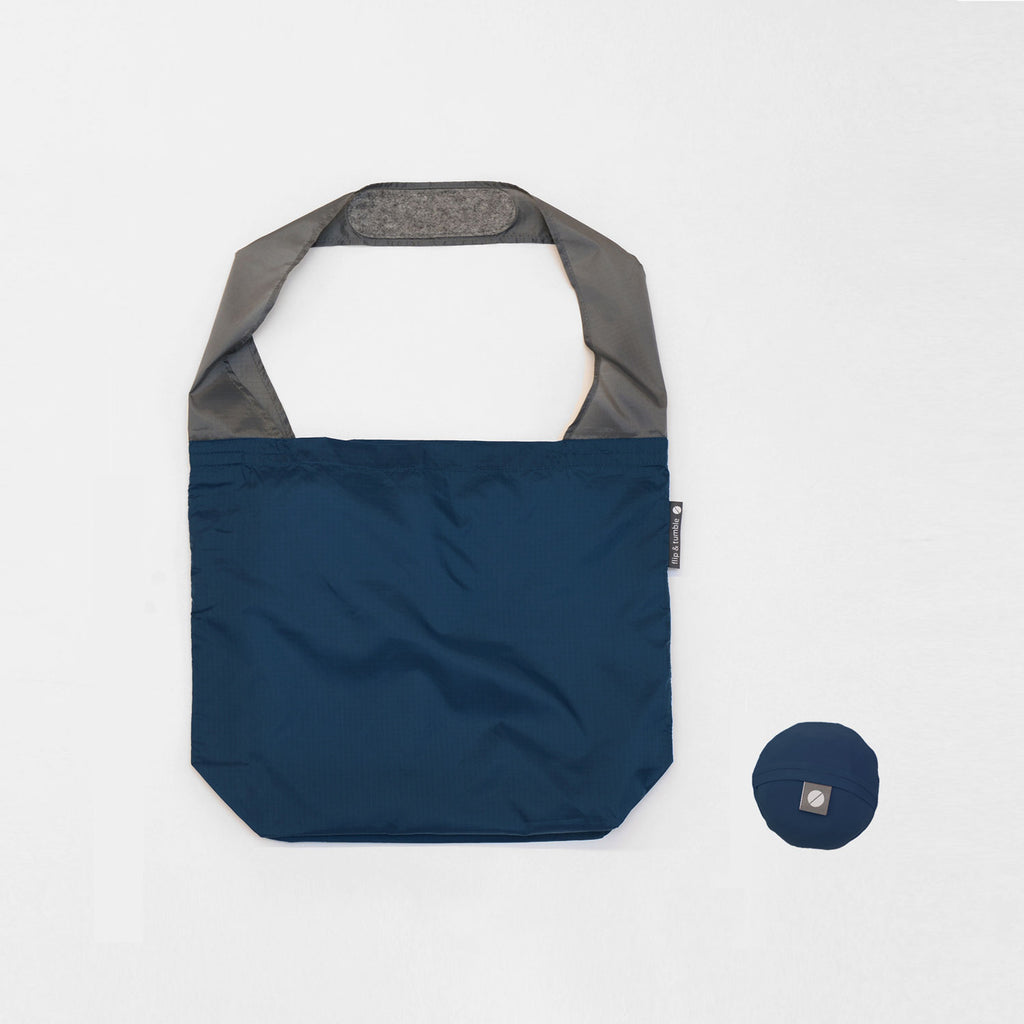 reusable grocery bag in navy