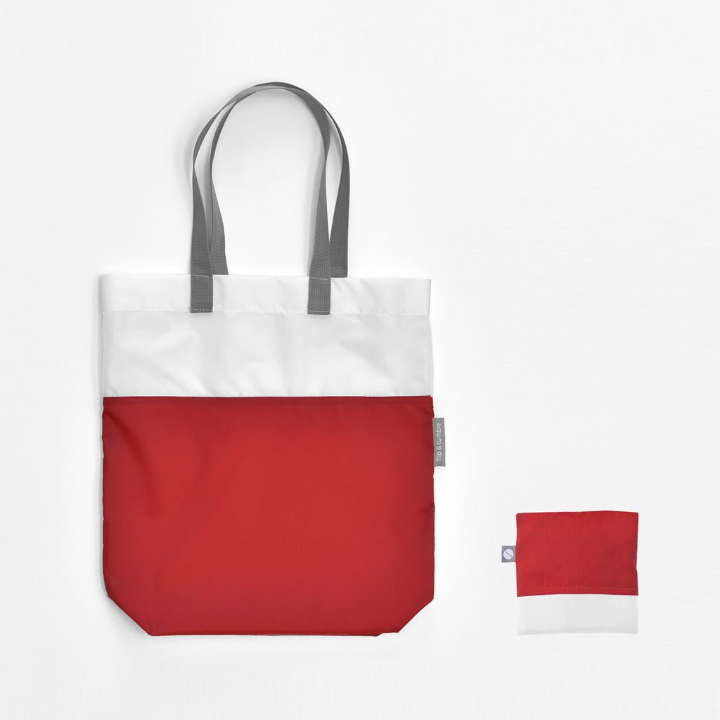 red tote bag reusable shopping bag