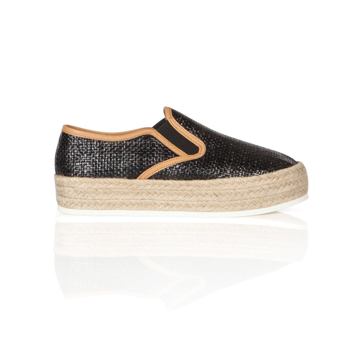 Matt Bernson, black with tan slip-on