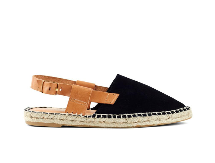 Matt Bernson, black with tan sandal