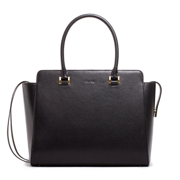 Leather Zip Closure Tote