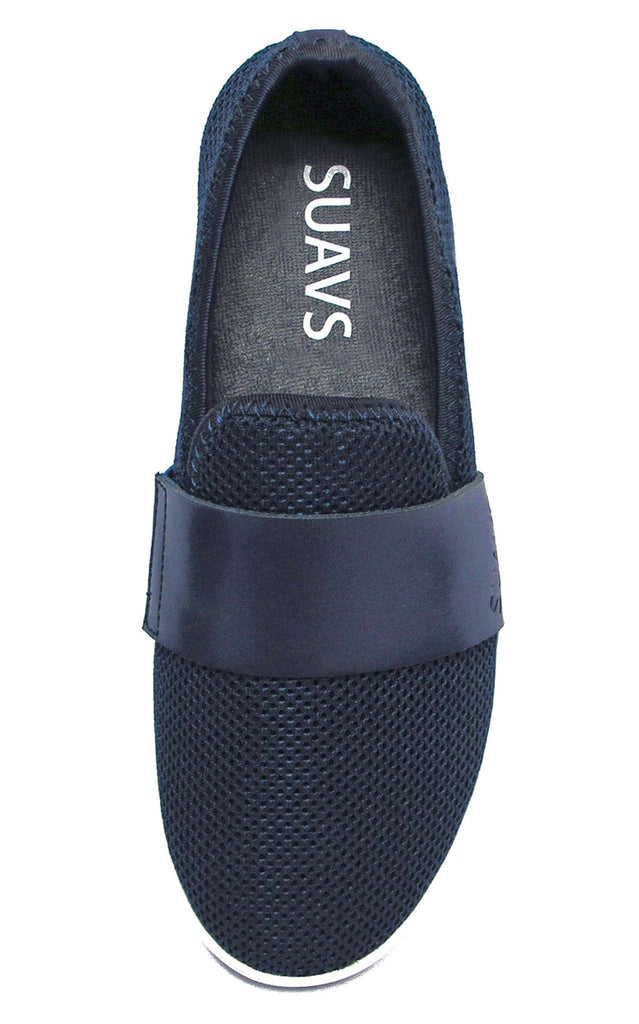 women's slip-on, navy with white sole
