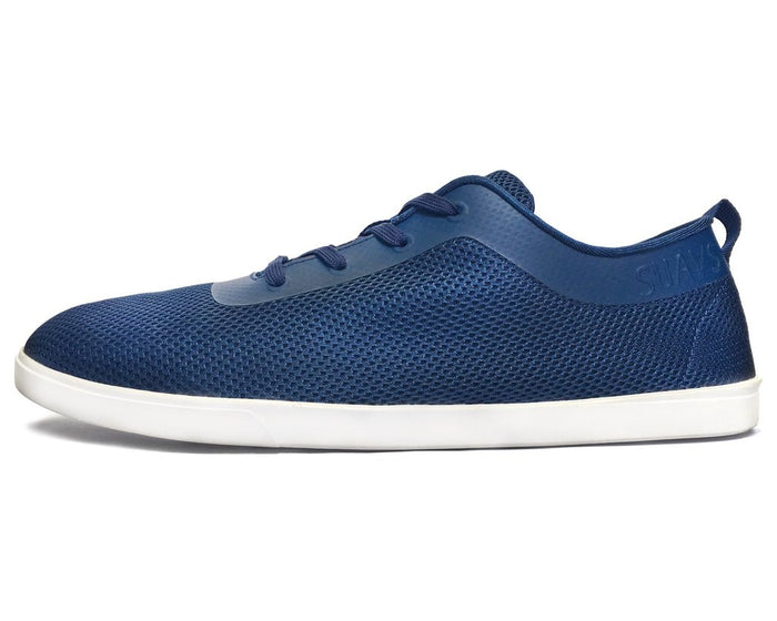 women's sneaker, blue with white sole