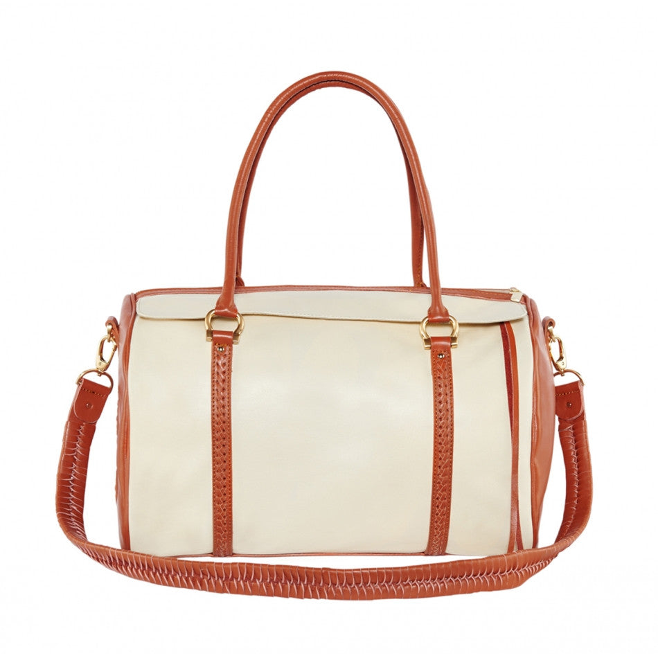 Travel Duffle Bag, Sand and Terra-Cotta